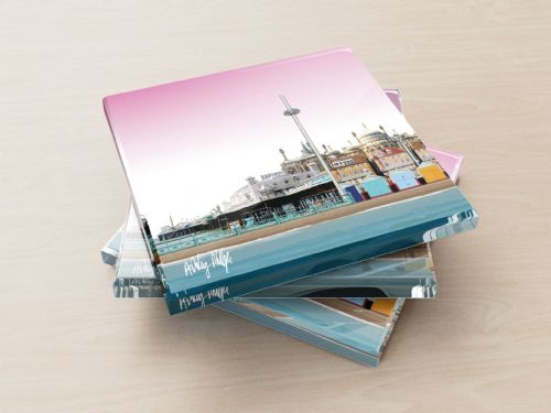 Brighton Skyline Pink - Glass Coasters